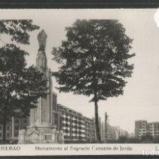Postales: BILBAO -208 - MONUMENTO AL SAGRADO CORAZON DE JESUS - FOTOGRAFICA ROISIN - (47.511). Lote 82886272