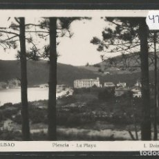 Postales: BILBAO -209 - PLENCIA - LA PLAYA - FOTOGRAFICA ROISIN - (47.512). Lote 82886416