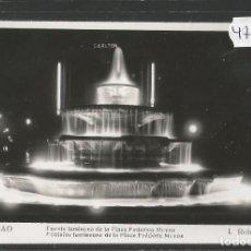 Postales: BILBAO - 556- FUENTE LUMINOSA FEDERICO MOYUA - FOTOGRAFICA ROISIN - (47.521). Lote 82887280