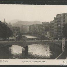 Postales: BILBAO -245 - PUENTE DE LA MERCED Y RIA - FOTOGRAFICA ROISIN - (47.527). Lote 82888080