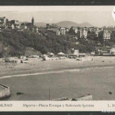 Postales: BILBAO -220- ALGORTA PLAYA EREAGA Y BALNEARIO IGEREXE - FOTOGRAFICA ROISIN - (47.534). Lote 82888712