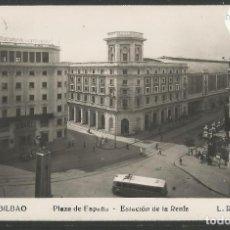 Postales: BILBAO -216- PLAZA DE ESPAÑA -ESTACION DE LA RENFE - FOTOGRAFICA ROISIN - (47.538). Lote 82888968