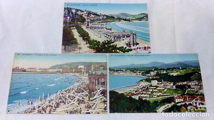 Postales: 8 ANTIGUAS POSTALES COLOREADAS DE SAN SEBASTIAN. EDITOR GONZALEZ GALARZA. NO CIRCULADAS.+1 OBSEQUIO - Foto 3 - 83714140