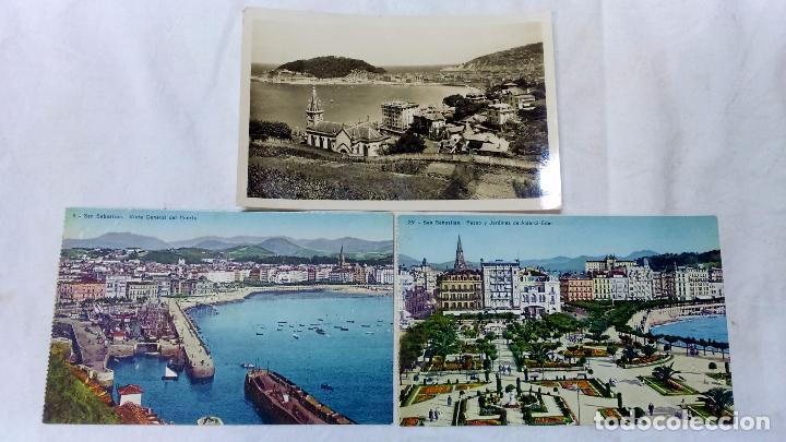 Postales: 8 ANTIGUAS POSTALES COLOREADAS DE SAN SEBASTIAN. EDITOR GONZALEZ GALARZA. NO CIRCULADAS.+1 OBSEQUIO - Foto 4 - 83714140