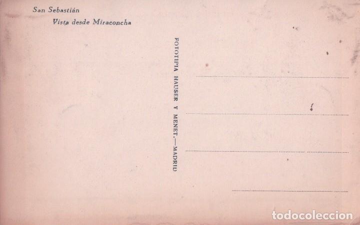 Postales: POSTAL SAN SEBASTIAN - VISTA DESDE MIRACONCHA - HAUSER Y MENET - Foto 2 - 84219560