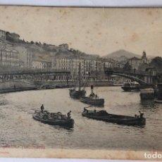 Postkarten - POSTAL. PUENTE GIRATORIO FUNCIONANDO. BILBAO. VIZCAYA. STENGEL. - 84592840