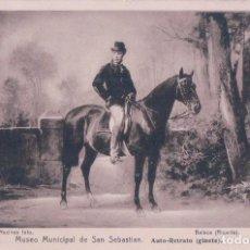 Postales: POSTAL MUSEO MUNICIPAL DE SAN SEBASTIAN - AUTO RETRATO (GINETE) - RESINES FOTO - BALACA (RICARDO). Lote 84637028