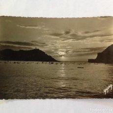 Postales: SAN SEBASTIÁN, EFECTOS DEL SOL EN LA BAHÍA , FOTOS GALARZA 23. Lote 85355224