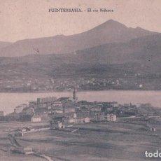 Postales: POSTAL FUENTERRABIA - EL RIO BIDASOA - TIBURCIO BERROTARAN - ESCRITA. Lote 85399268