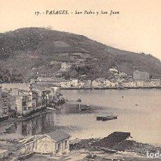 Postales: PASAGES (GUIPUZCOA).- SAN PEDRO Y SAN JUAN. Lote 85618668
