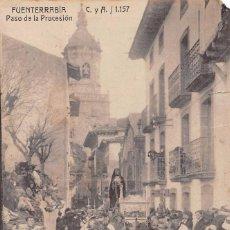 Postales: FUENTERRABIA (GUIPUZCOA).- PASO DE LA PROCESION. Lote 85620312
