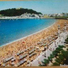 Postales: SAN SEBASTIAN - PLAYA DE LA CONCHA. Lote 85697108