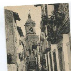Postales: POSTAL ANTIGUA. HONDARRIBIA. FUENTERRABÍA - CALLE DE LAS TIENDAS. Lote 85764556