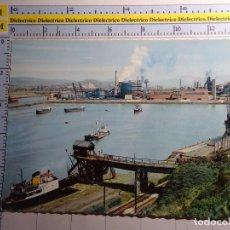 Cartoline: POSTAL DE VIZCAYA. AÑO 1960. SESTAO, DÁRSENA DE LA FEDERICA Y ALTOS HORNOS DE VIZCAYA. 409. Lote 85949100