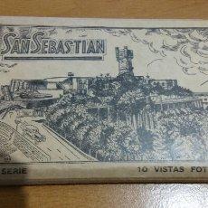 Postales: LIBRO 10 POSTALES ANTIGUAS SAN SEBASTIAN. Lote 86150431