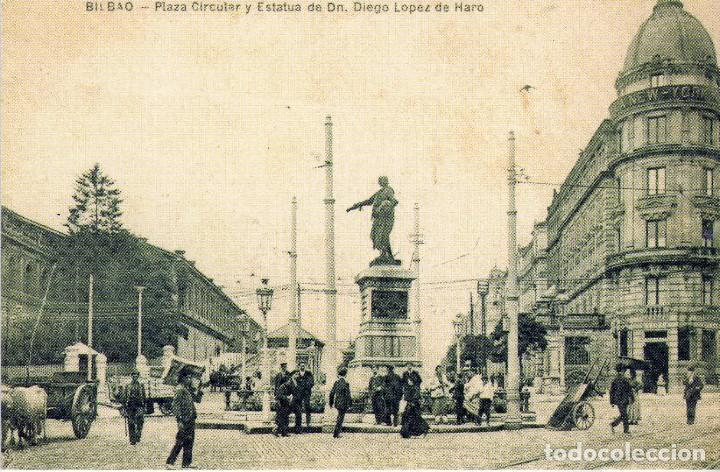 POSTAL BILBAO-VIZCAYA PLAZA CIRCULAR (Postales - España - Pais Vasco Antigua (hasta 1939))