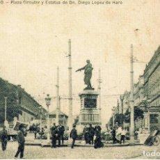 Postales: POSTAL BILBAO-VIZCAYA PLAZA CIRCULAR. Lote 86213948