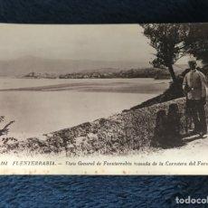 Postales: ANTIGUA POSTAL FUENTERRABIA NÚM 161 VISTA GENERAL FUENTERRABIA DESDE CARRETERA FARO. Lote 86523327