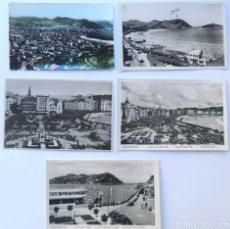 Postales: SAN SEBASTIAN / 5 POSTALES AÑOS 50 / . Lote 86711456