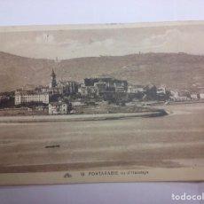 Postales: FUENTERRABIA (GUIPUZCOA) VISTO HENDAYA 1931. CANCELACION BAJOS PIRINEOS.. Lote 87869972