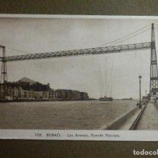 Postales: POSTAL - ESPAÑA - BILBAO - 108.- LAS ARENAS - PUENTE DE VIZCAYA - L. ROISIN -. Lote 88085456