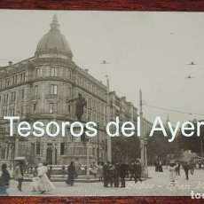 Postales: FOTO POSTAL DE BILBAO, GRAN VIA, ED. MGB, N.12, CIRCULADA EN 1910. . Lote 88958072