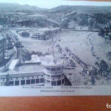 Postales: DEVA (GUIPUZCOA) - HOTEL MIRAMAR Y PLAYA - TREN CIRCULANDO - SIN CIRCULAR. Lote 89181100