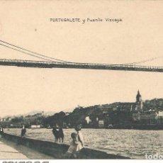 Postales: POSTAL, PORTUGALETE PUENTE VIZCAYA, ED. J. BAYO, SIN CIRCULAR. Lote 90461489
