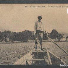 Postales: HONDARRIBIA / FUENTERRABÍA - UN BARQUERO DEL BIDASOA - P21668. Lote 90584875
