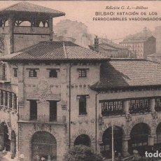 Postales: POSTAL BILBAO ESTACION DE LOS FERROCARRILES VASCONGADOS P.MUNDI/P.VASCO-23 . BUEN ESTADO. Lote 90697845