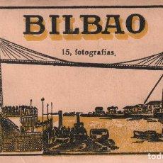 Postales: ALBUM BILBAO 15 FOTOGRAFIAS EN ACORDEON - NUM 1 P.MUNDI/P.VASCO-25. Lote 90701155