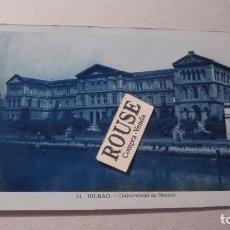 Postales: 14 - BILBAO - UNIVERSIDAD DE DEUSTO - POSTAL FOTOGRAFICA 14X9 CM. . Lote 91001750
