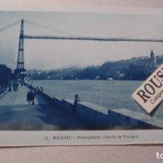 Postales: 11 - BILBAO - PORTUGALETE PUENTE DE VIZCAYA - POSTAL FOTOGRAFICA 14X9 CM. . Lote 91002790