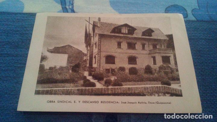 OBRA SINDICAL, EDUCACIÓN Y DESCANSO, RESIDENCIA JOSE JOAQUIN AZTIRIA. DEVA (GUIPUZCOA) (Postales - España - Pais Vasco Antigua (hasta 1939))