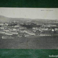 Postales: IRUN - GUIPUZCOA - VISTA GENERAL -E.J.G - PARIS-IRUN CIRCULADA 1917. Lote 91699110