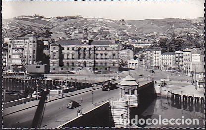 POSTAL BILBAO PUENTE DEL GENERAL MOLA Y AYUNTAMIENTO (Postales - España - País Vasco Moderna (desde 1940))