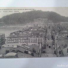 Postales: POSTAL SAN SEBASTIAN. VISTA DESDE EL BUEN PASTOR. HAUSER Y MENET.. Lote 93235310