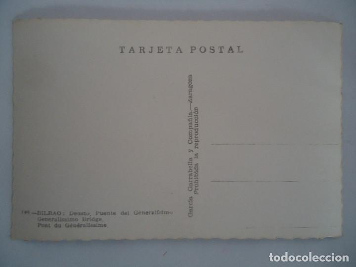 Postales: POSTAL DE BILBAO DEUSTO. PUENTE DEL GENERASIMO - Foto 2 - 93819340