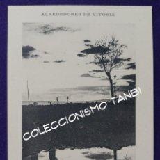 Postales: POSTAL DE VITORIA (ALAVA). ALREDEDORES DE VITORIA. PUESTA DE SOL. LIBRERIA GENERAL. AÑO 1910-1915. Lote 94019060