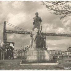 Postales: BILBAO, MONUMENTO A VICTOR DE CHAVARRI Y PUENTE DE VIZCAYA - EDICIONES GARCIA GARRABELLA Nº 47 - S/C. Lote 94188750