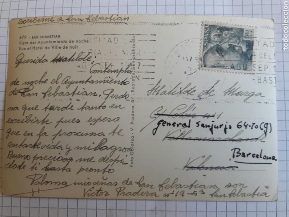 Postales: Postal circulada San Sebastián años 60 - Foto 2 - 94378547