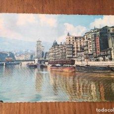 Postales: P0561 POSTAL FOTOGRAFIA BILBAO PAIS VASCO NUMERO 2207 MUELLE DE RIPA 1962. Lote 95715283
