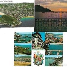 Postales: SAN SEBASTIAN FUENTERRABIA LOTE DE 3 POSTALES . Lote 95725183