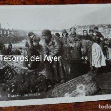 Postales: ESCENA DE PESCA LEQUEITIO. SIN REVERSO. SIN CIRCULAR. Lote 96213779
