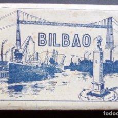 Postales: CARPETA CON 10 POSTALES DE BILBAO EN ACORDEÓN. POSTALES COLOREADAS, POSIBLEMENTE DE LOS AÑOS 30. Lote 96443871