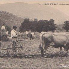 Postales: GUIPUZCOA - FAENAS AGRICOLAS - EDICION G.G. GALARZA . SAN SEBASTIAN - CLICHÉ GONZÁLEZ. Lote 96946199
