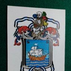 Postales: POSTAL ESCUDO DE DONOSTIA. HERALDICA MUNICIPAL. HERALDICAS ENDIKA MOGROBEJO. 1980. SIN CIRCULAR. Lote 97144799