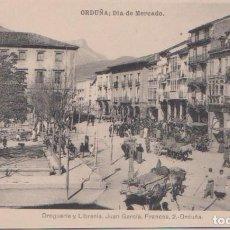 Postales: ORDUÑA (VIZCAYA) - DIA DE MERCADO. Lote 97243251