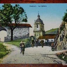 Postales: ANTIGUA POSTAL DE CEANURI (VIZCAYA), LA IGLESIA, CLICHE LUX, L.G. BILBAO - SIN CIRCULAR. Lote 97322167