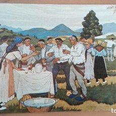 Postales: COSTUMBRES VASCAS ,TIPOS VASCOS Nº 10 - JOSE ARRUE ROMERIA. EDITADA EN 1982. Lote 97777831